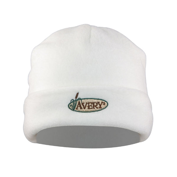 avery white double fleece skull cap 48222