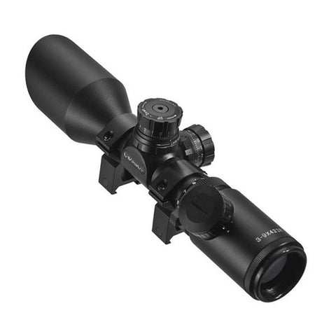 BARSKA Sniper GX2 3-9x42 Riflescope, Illum. Mil Dot Reticle, 1-inch, w/ Rings (AC11668)