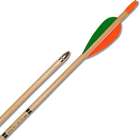 Bear Archery Wood Arrows 72 Pk Aws27