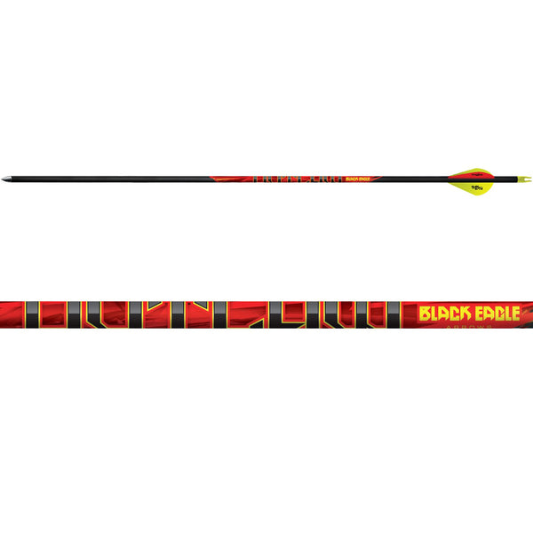 BLACK EAGLE 6 Pack of Outlaw 300 Grain .005in Fletched Arrows (Outl-Fletched-0001)