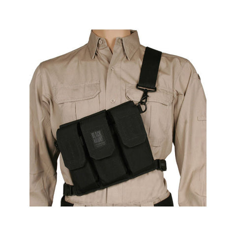 BLACKHAWK Rifle Bandoleer, 6 Mags, Black (55SOS1BK)