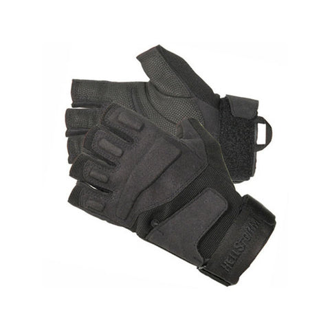 BLACKHAWK SOLAG Light Assault Half-Finger Gloves, Medium, Black (8068MDBK)