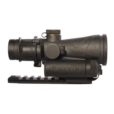 BROWE 4x32 Combat Optic Sight, Red Chevron Reticle, 5.56mm NATO w/ Mount (BCO-001)