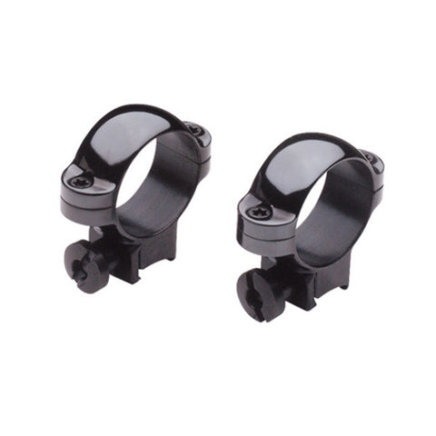 BURRIS RimFire/Airgun Rings, 1 in, .22 Ring Pair, Groved Receivers, Allum., Med., Gloss Bl. (420071)