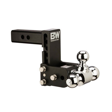 B&W Tow & Stow 5in Drop 4.5in Rise 1 7/8x2x2 5/16in Triple Ball Size Hitch (TS20048B)