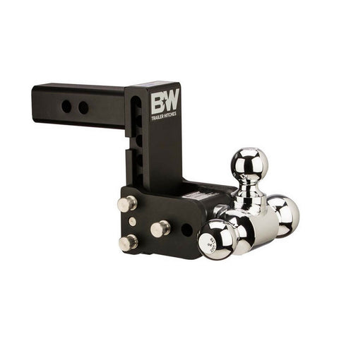 B&W Tow & Stow 7in Drop 7.5in Rise 1 7/8x2x2 5/16in Triple Ball Size Hitch (TS20049B)