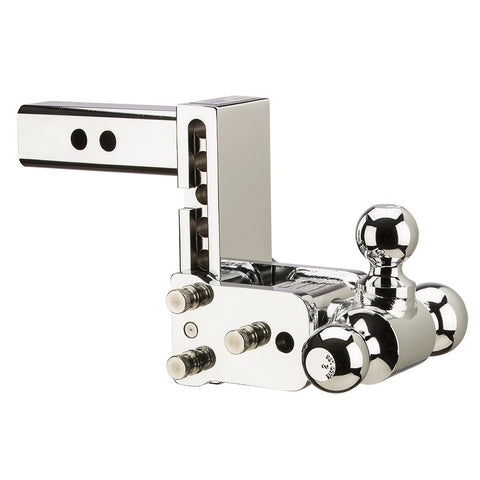 BW Tow Stow Model 8 Chrome Tri-Ball Hitch TS10048C