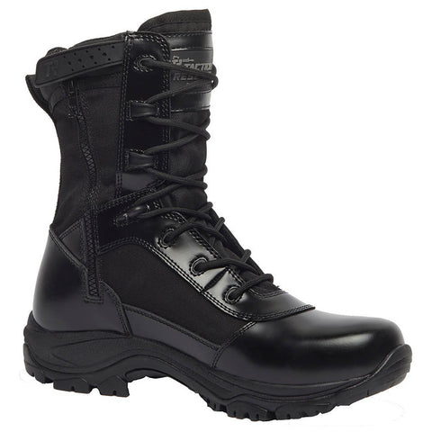 BELLEVILLE 8in Hot Weather High Shine Side-Zip Black Boot (TR908Z)