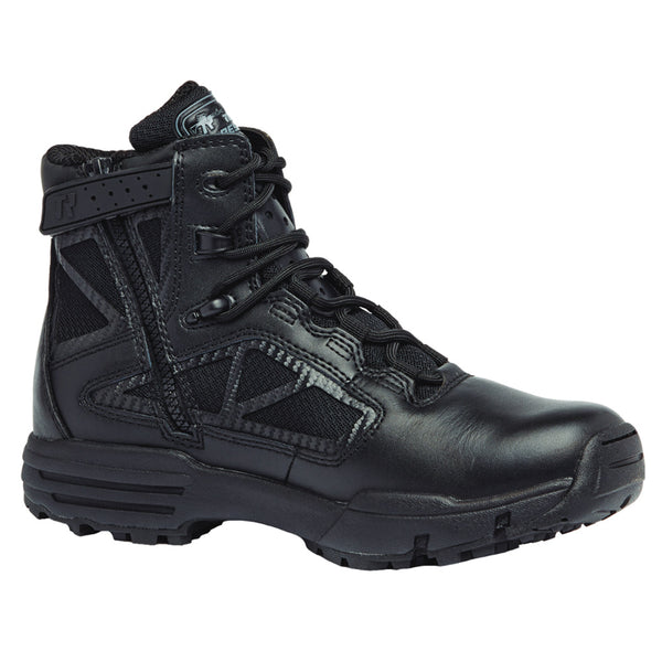 BELLEVILLE Chrome 6in Black Side-Zip Boots (TR916Z)