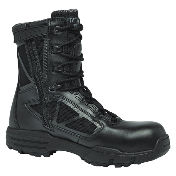 BELLEVILLE Chrome Composite Toe 8in Black Waterproof Side Zip Boots (TR998ZWPCT)