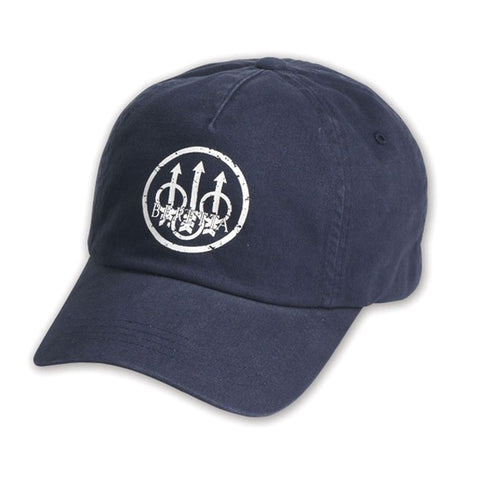 BERETTA Washed Navy-Gray Trident Cap BC9791750504
