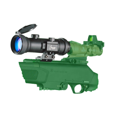 BERING OPTICS Black Tactical Side Mount for Night Probe Mini NV Attachment and D-950 Night Vision Attachment (BE80411)