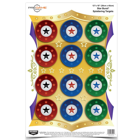 BIRCHWOOD CASEY Pregame 12x18in Star Burst 8-Pack Target (35572)