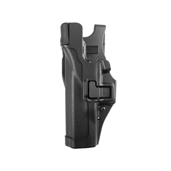 BLACKHAWK Serpa Glock 17/19/22/23/31/32 L3 Left Hand Plain Black Duty Holster (44H100PL-L)