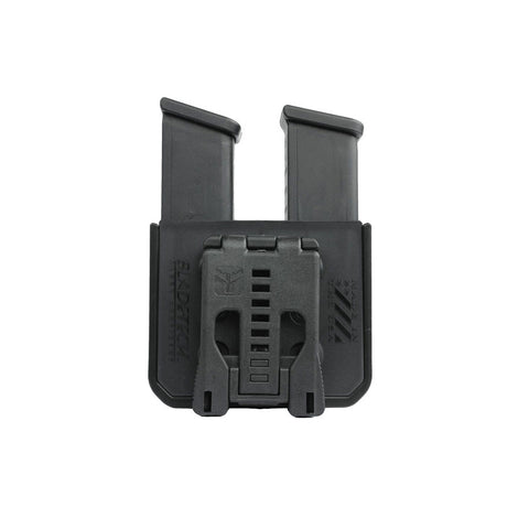 BLADE TECH INDUSTRIES Signature Dbl Stack 9/40 Double Mag Pouch (AMMX0024GDS940TLBLK)
