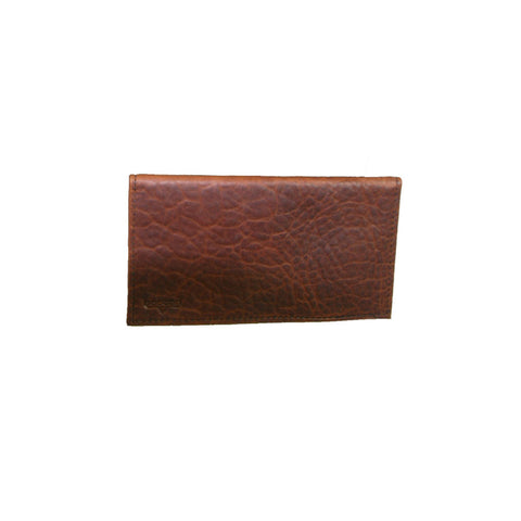 BOSTON LEATHER Bison Leather Checkbook Cover 1051-1