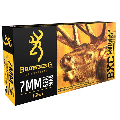 BROWNING BXC Big Game 7mm Rem Mag 155Gr Terminal Tip Rifle Ammo (B192200071)