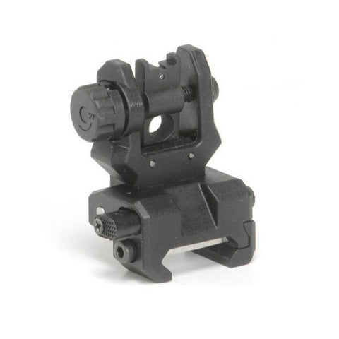 CAA-Tactical Low Profile Rear Flip Sight, Black, Picatinny (FRS)