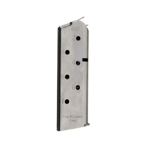 CHIP-MCCORMICK Match Grade 1911 45 ACP 7rd Stainless Magazine (14120)
