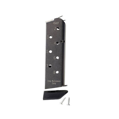 CHIP-MCCORMICK Match Grade Magazine 45 ACP 8 Rd Stainless 1911 w/ Pad (14111)