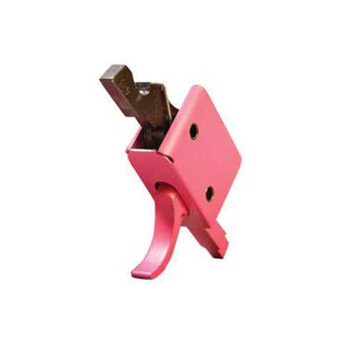 CMC TRIGGERS CORP Single Stage Match Curved Trigger, Pink Finish (91501P)