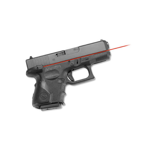 CRIMSON TRACE Glock 4th Gen Sub Compact 26, 27, Lasergrip, Rear Activation (LG-852)