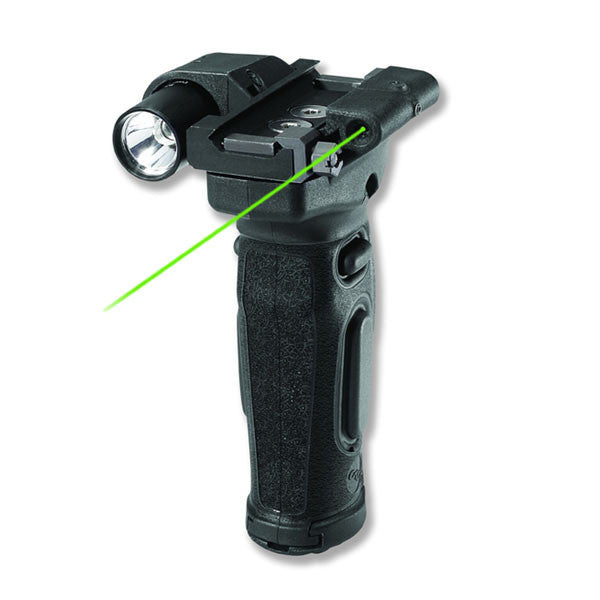 CRIMSON TRACE Modular Vertical Foregrip Laser/Light-GREEN, Dual Side Activation (MVF-515 G)