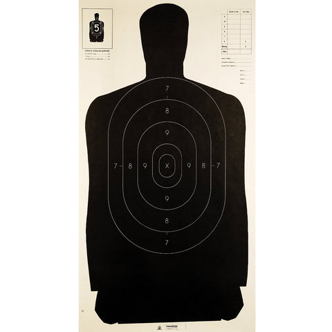 Champion Traps and Targets LE Police Silhouette B-27 Single Target (40727-SINGLE)