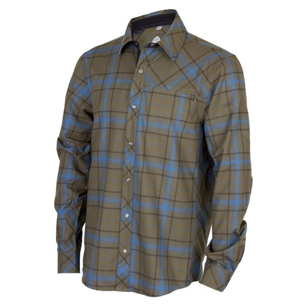 CLUB RIDE MJJK302OT Mens Jack Flannel Long Sleeve Olive Twist Top