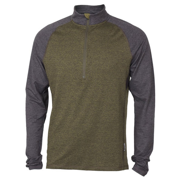 CLUB RIDE MJTM702OB Mens Tempo 1/4 Zip Long Sleeve Olive/Black Top