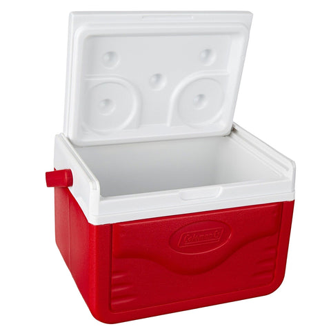 COLEMAN 5 Quart FlipLid Red Cooler with Shield (187889)