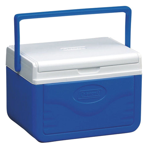COLEMAN 5 Quart FlipLid Blue Cooler with Shield (187890)