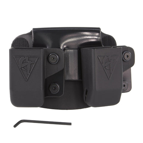 COMP-TAC Twin Paddle OWB Size1 1911 Single Stack/Kahr/ Springfield XD S Magazine Pouch (C62401000LBKN)