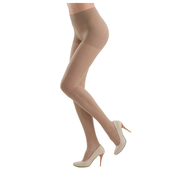 Conte Women's Nude Matte Compression Pantyhose Tights - Active Soft 20 Denier