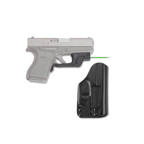 CRIMSON TRACE Glock 43 Green Laserguard with Blade Tech IWB Holster (LG-443G-HBT-G43)