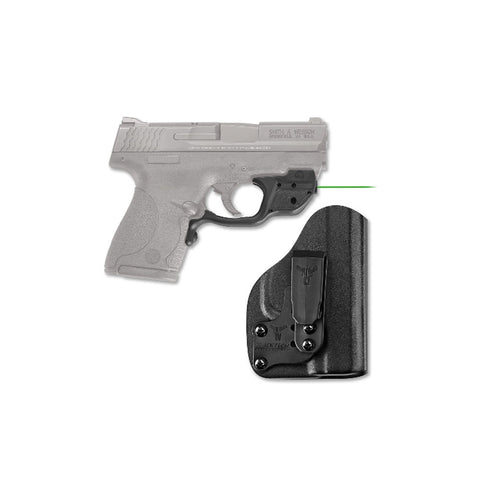 CRIMSON TRACE S&W M&P Shield Green Laserguard with Blade Tech IWB Holster (LG-489G-HBT)
