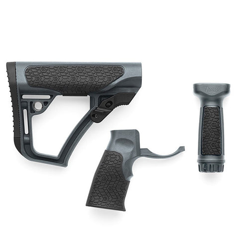 DANIEL DEFENSE Furniture Kit, Buttstock, Grip & Vertical Foregrip Combo, Grey (28-102-06145-012)