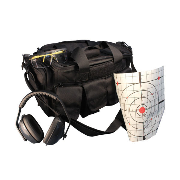 DISSE DR-1 Range Bag with extra webbing and pouches, Black (LQ-1000-3002-BL)