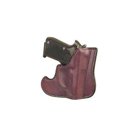DON HUME 001 Front Pocket Holster, Ambidextrous, 2in, S&W .38 Body Guard w/ Laser, Leather, Brown (J100103R)