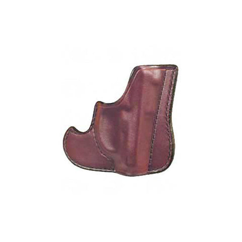 DON HUME 001 Front Pocket Holster, Ambidextrous, 2in, S&W J Frame, Taurus 85, Brown (J100100R)