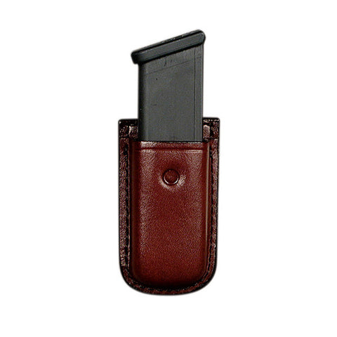 DON HUME Clip On D417 Mag Pouch, Single Stack Mags, Brown (D739135)