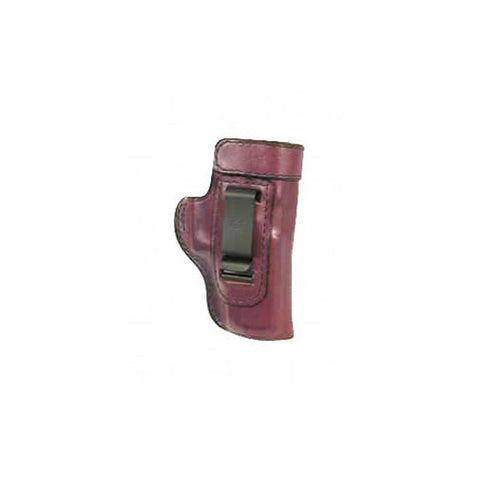 DON HUME Clip On H715M Holster, LH, 3.25in, Glock 26, 27, Brown (J168038L)
