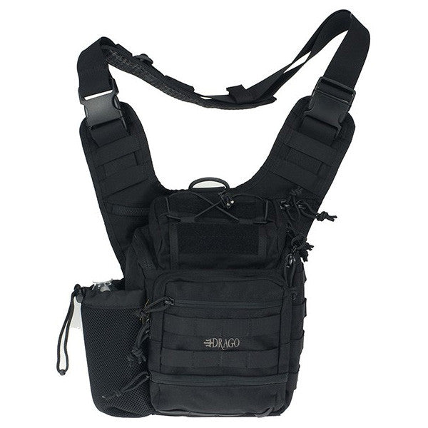 DRAGO GEAR Ambidextrous Shoulder Pack, Black (15-303BL)