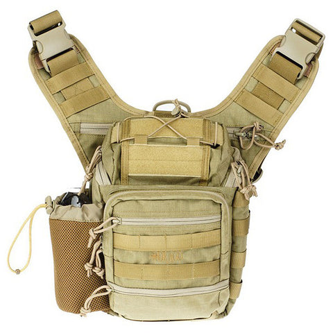 DRAGO GEAR Ambidextrous Shoulder Pack, Tan (15-303TN)