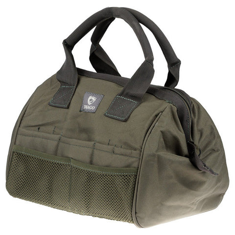 DRAGO GEAR Ammo and Tool Accessory Case, 600D Polyester, Green (17301GR)