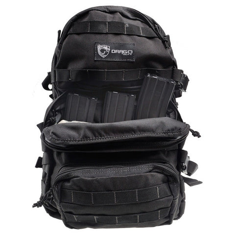 DRAGO GEAR Assault Backpack, Black (14-302BL)