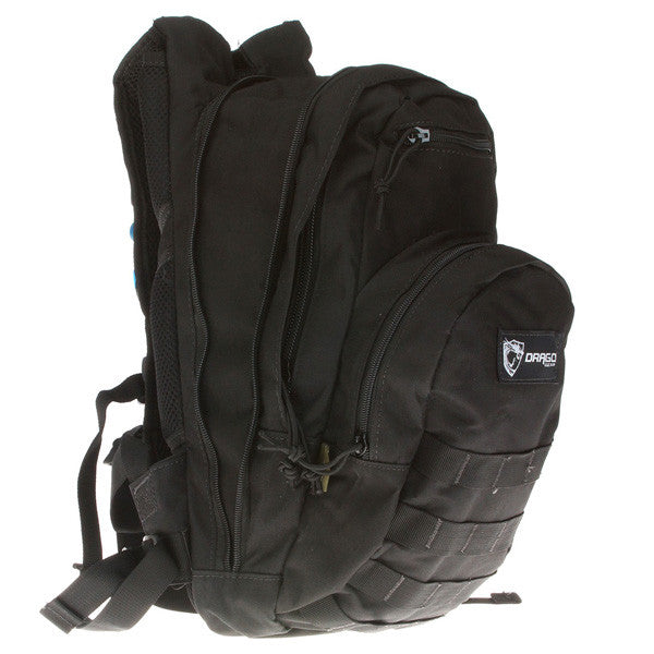 DRAGO GEAR Hydration Pack, 600D Polyester, Black (11301BL)