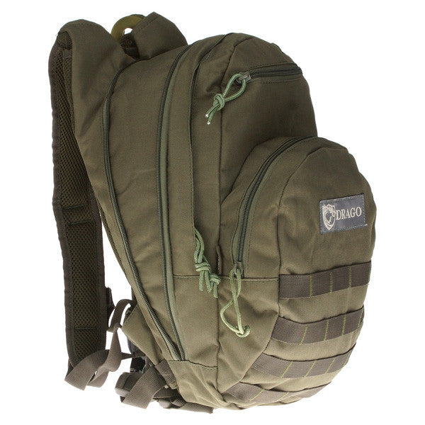 DRAGO GEAR Hydration Pack, 600D Polyester, Green (11301GR)