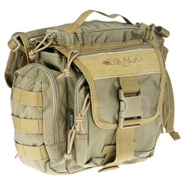 DRAGO GEAR Officer Shoulder Pack, 840D Nylon, Tan (15302TN)