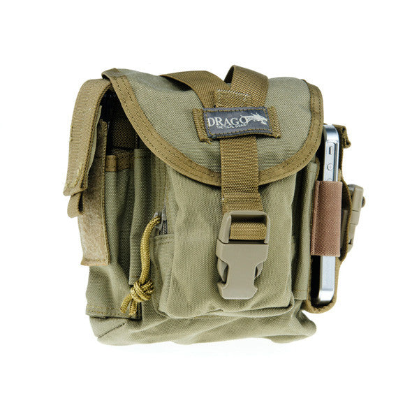 DRAGO GEAR Patrol Pack Belt Bag, Reinforced Webbing, Tan (16302TN)